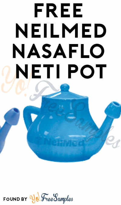 FREE NeilMed NASAFLO Neti Pot (Facebook Like & Quiz Required) [Verified Received By Mail]