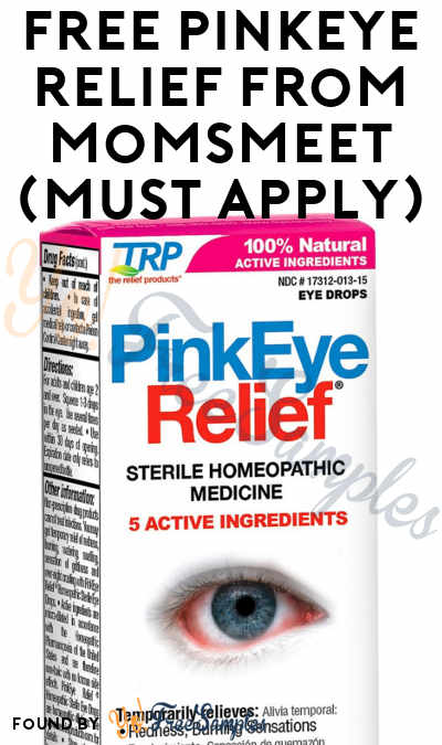 FREE PinkEye Relief From MomsMeet (Must Apply)