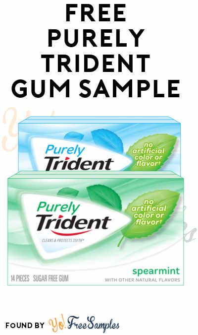 FREE Purely Trident Gum Sample (Facebook Required & Not Mobile Friendly) [Verified Received By Mail]
