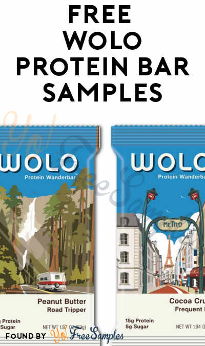 FREE WOLO Protein Snack WanderBar Sample 2-Pack [Verified Received By Mail]