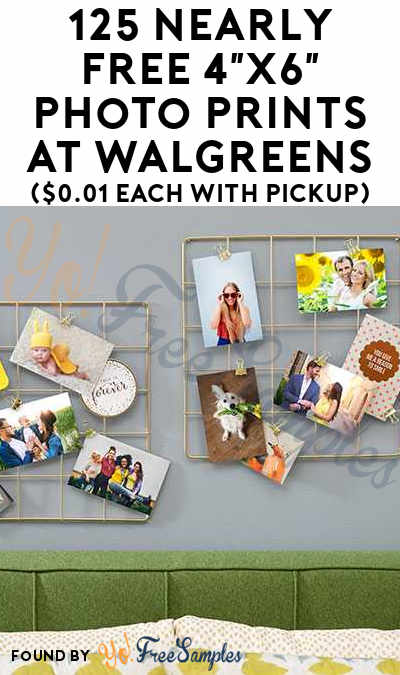 125 Nearly FREE 4″x6″ Photo Prints At Walgreens ($0.01 Each With Pickup)