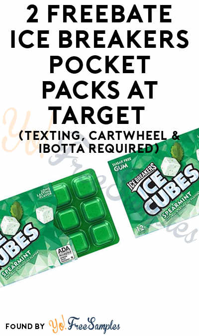 2 FREEBATE Ice Breakers Pocket Packs At Target (Texting, Cartwheel & Ibotta Required)