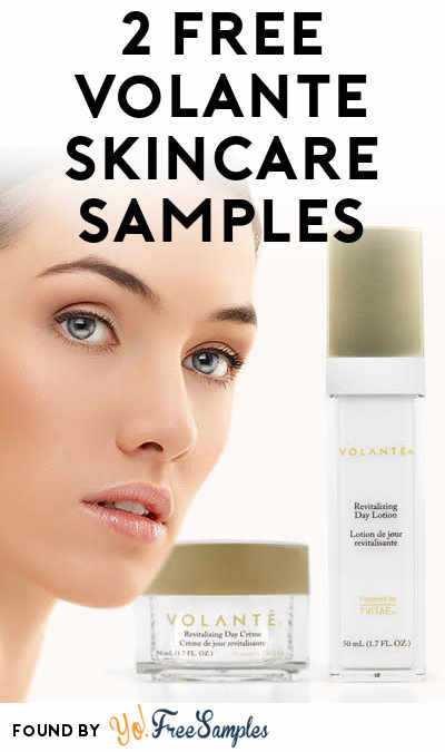 FREE Volante Skincare Revitalizing Day Creme & Day Lotion Samples