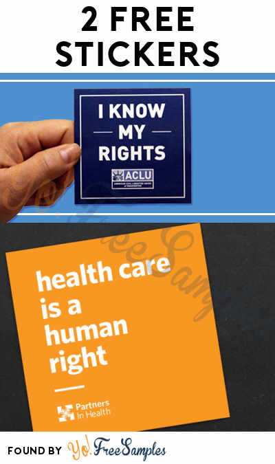 2 FREE Stickers Today: Health Care Is A Human Right Sticker & ACLU Sticker + Guide
