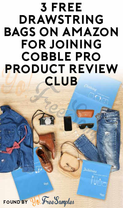 3 FREE Drawstring Bags On Amazon For Joining Cobble Pro Product Review Club [Verified Received By Mail]