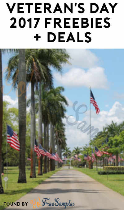 75+ Veteran's Day 2017 Freebies & Deals