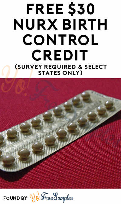 FREE $30 Nurx Birth Control Credit (Survey Required & Select States Only)