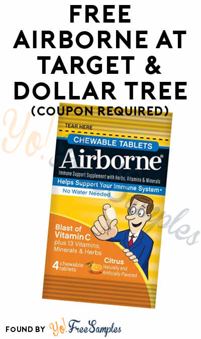 FREE Airborne At Target & Dollar Tree (Coupon Required)