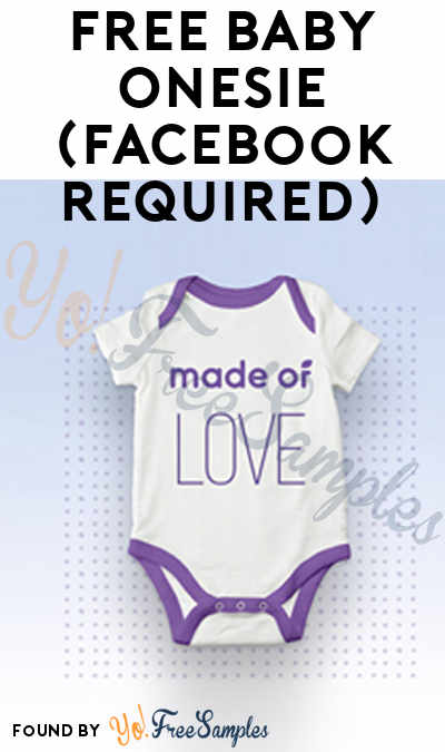 FREE Baby Onesie (Facebook Required)