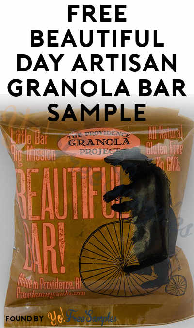 FREE Beautiful Day Artisan Granola Bar Sample