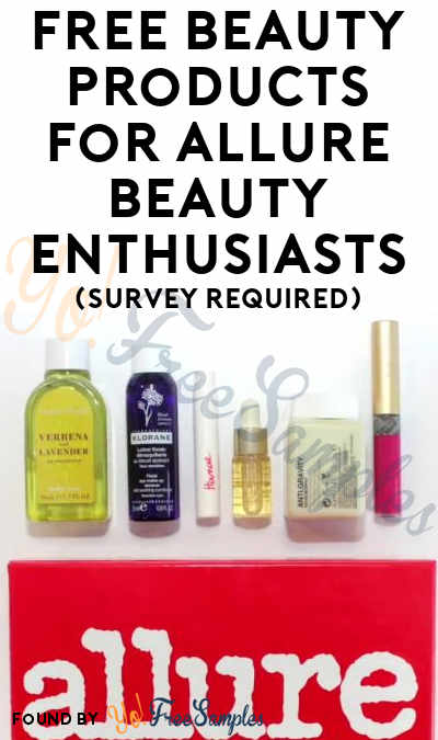 FREE Beauty Products For Allure Beauty Enthusiasts (Survey Required)