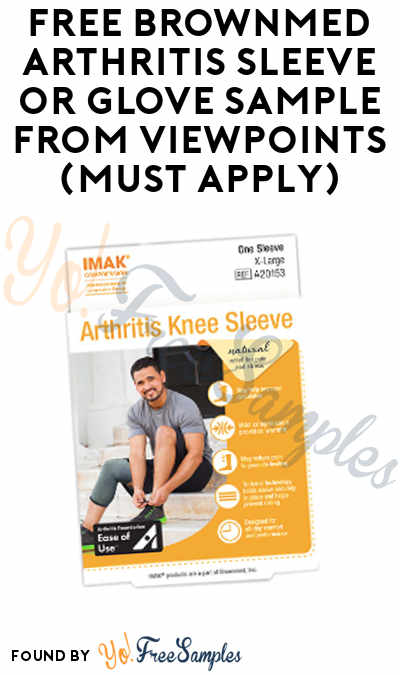 FREE Brownmed Arthritis Sleeve or Glove Sample From ViewPoints (Must Apply)