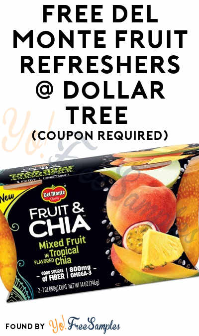 FREE Del Monte Fruit Refreshers At Dollar Tree (Coupon Required)