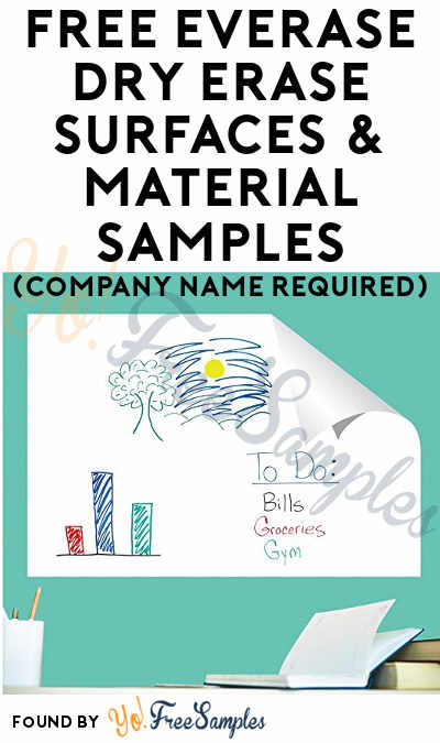 FREE Everase Dry Erase Surfaces & Material Samples (Company Name Required)