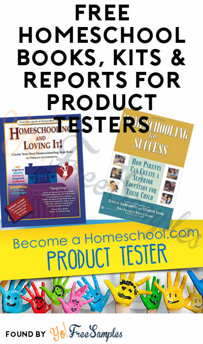 FREE HomeSchool Books, Kits & Reports For Product Testers