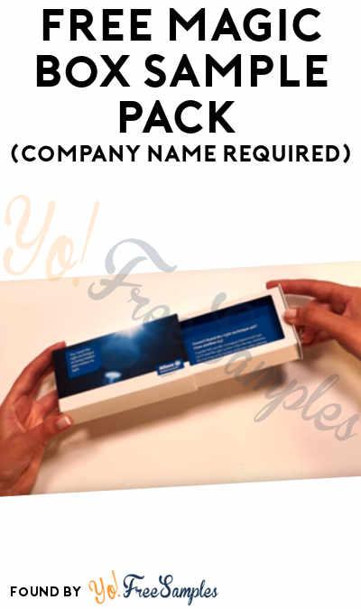 FREE Magic Box Sample Pack (Company Name Required)