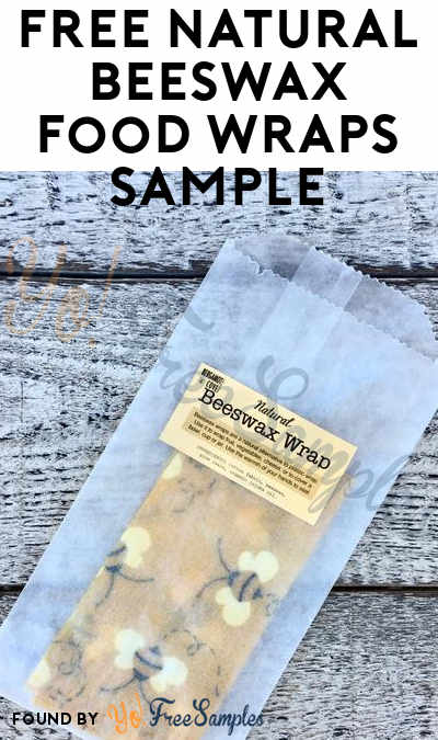 $1 Shipping Added: FREE Natural Beeswax Food Wraps Sample