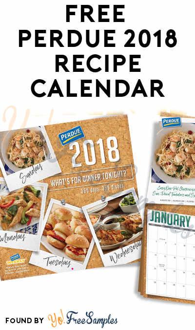 FREE Perdue 2018 Recipe Calendar