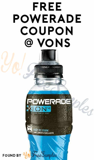 FREE Powerade Coupon At Vons (Loyalty Card Required)
