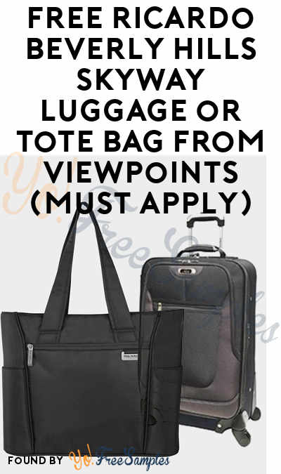 FREE Ricardo Beverly Hills Skyway Luggage or Tote Bag From ViewPoints (Must Apply)