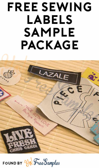 FREE Dutch Sewing Labels Sample Package [Verified Received By Mail]