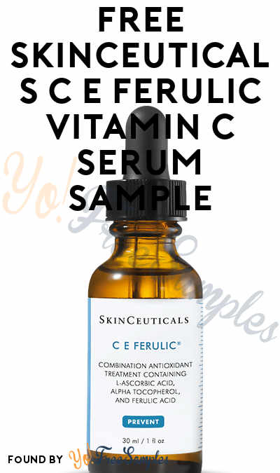 FREE SkinCeuticals C E Ferulic Vitamin C Serum Sample