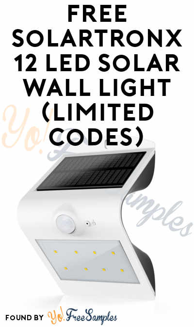 FREE Solartronx 12 LED Solar Wall Light (Limited Codes) [Verified]