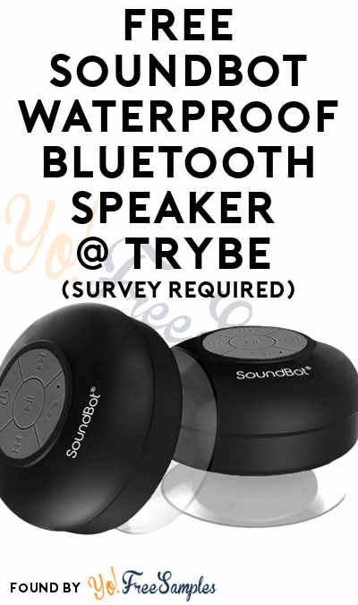 FREE SoundBot Waterproof Bluetooth Speaker At Trybe (Survey Required)