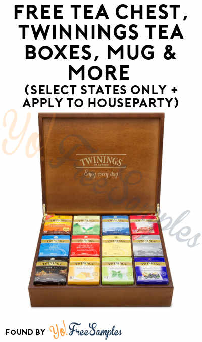 FREE Tea Chest, Twinnings Tea Boxes, Mug & More (Select States Only + Apply To HouseParty)