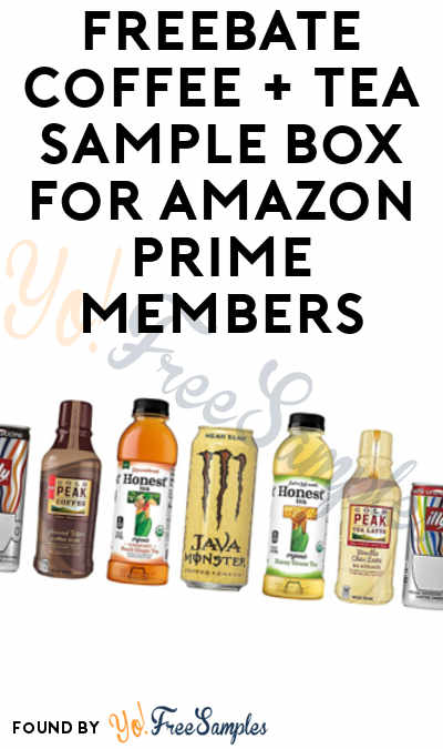 FREEBATE Coffee + Tea Sample Box For Amazon Prime Members