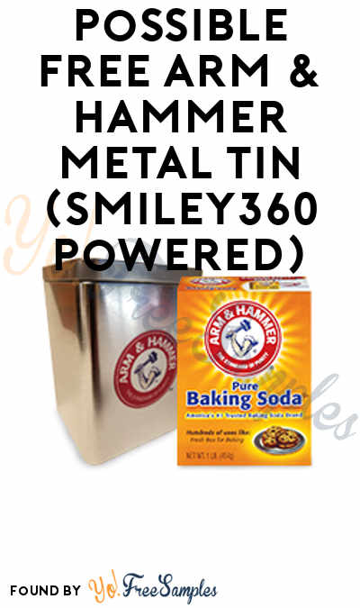 Possible FREE Arm & Hammer Baking Tin + Recipe Booklet (Smiley360 Powered)