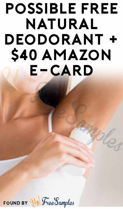 Possible FREE Natural Deodorant + $40 Amazon e-Card From PinkPanel & GuysThatGroom (Men & Women Ages 18+ & Surveys Required)