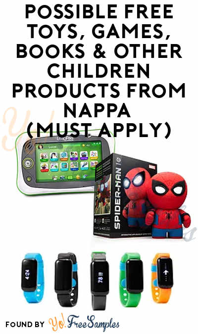 Possible FREE Toys, Games, Books & Other Children Products From NAPPA (Must Apply)