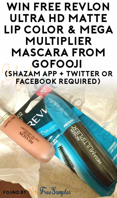 Win FREE Revlon Ultra HD Matte Lip Color & Mega Multiplier Mascara From GoFooji (Shazam App + Twitter or Facebook Required)
