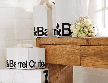 Crate and Barrell Wedding Registry