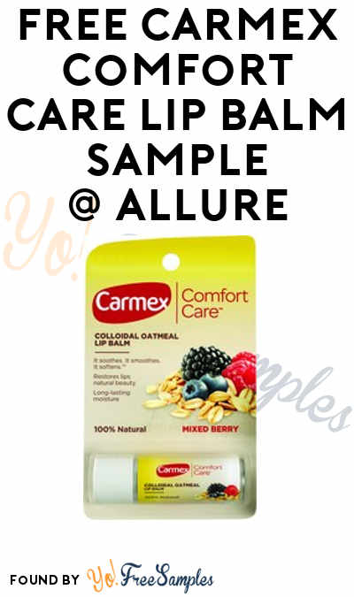 FREE Carmex Comfort Care Lip Balm Sample [Verified Received By Mail]