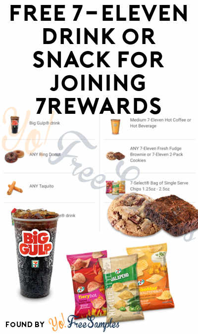 FREE 7-Eleven Drink or Snack For Joining 7Rewards [Verified]