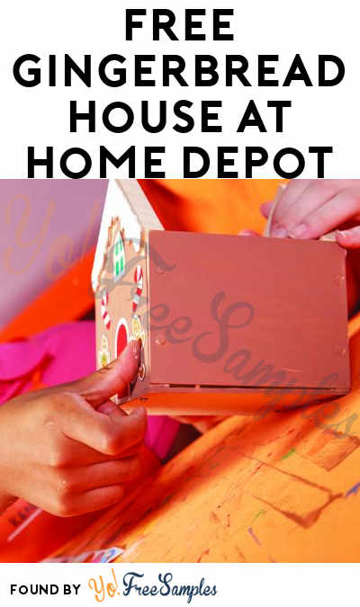 FREE Gingerbread House At Home Depot on December 2nd 2017 9AM-12PM