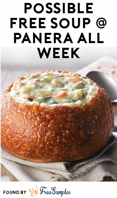 Possible FREE Soup All Week Long At Panera (Reward Varies On Rewards Card)