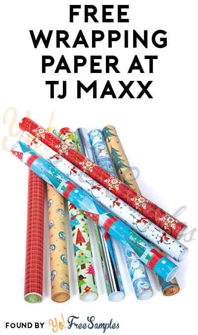 FREE Wrapping Paper At TJ Maxx & Other Stores On 11/18 From 8:30 – 10:30 AM (Rewards Members Only)