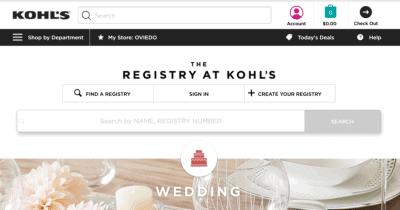 Kohls Wedding Registry