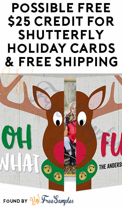 Possible FREE $25 Credit For Shutterfly Holiday Cards & FREE Shipping For Toys R Us & Babies R Us Customers