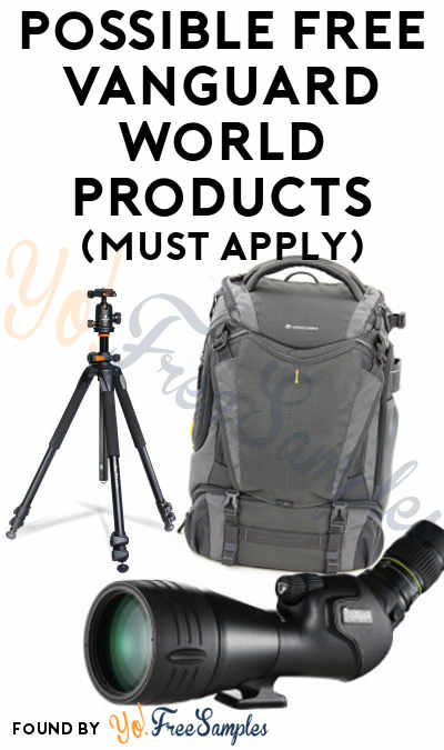 Possible FREE Vanguard World Binoculars, Scopes, Tripods, Camera Bags, Outdoor Packs & More For VIP Product Testers (Must Apply)