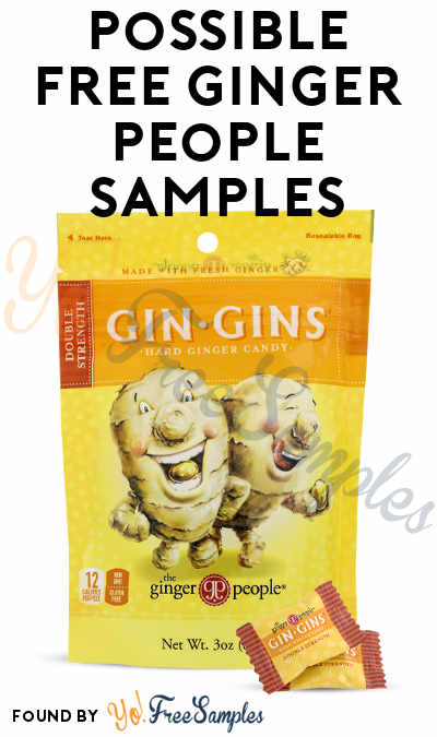 Possible FREE Ginger People Candy Samples (Must Apply)