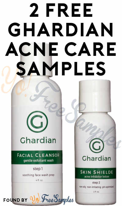 2 FREE Ghardian Acne Care Samples