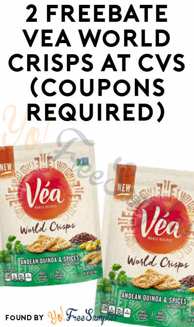 2 FREEBATE Vea World Crisps At CVS (Coupons Required)