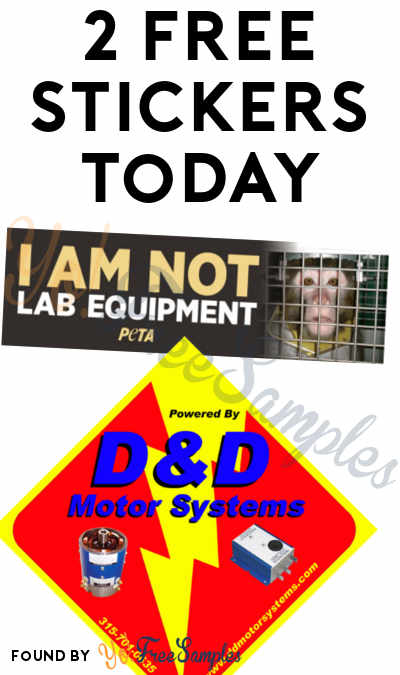 2 FREE Stickers: I Am Not Lab Equipment PETA Bumper Sticker & Possible D&D Motor Systems Sticker