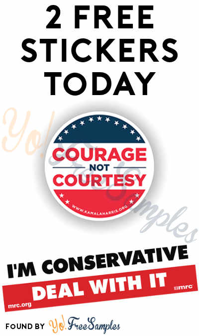 2 FREE Stickers: Courage Not Courtesy Sticker & I'm Conservative Deal With It Bumper Sticker