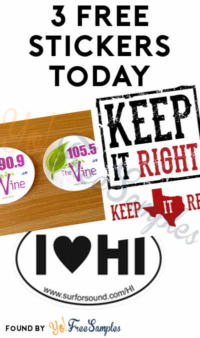 3 FREE Stickers: Keep It Red Bumper Sticker, The Vine Window Sticker & I Heart HI Sticker