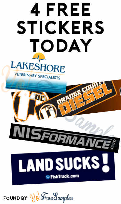 4 FREE Stickers Today: OC DIESEL Stickers, Lakeshore Magnet, Land Sucks & NISformance Stickers